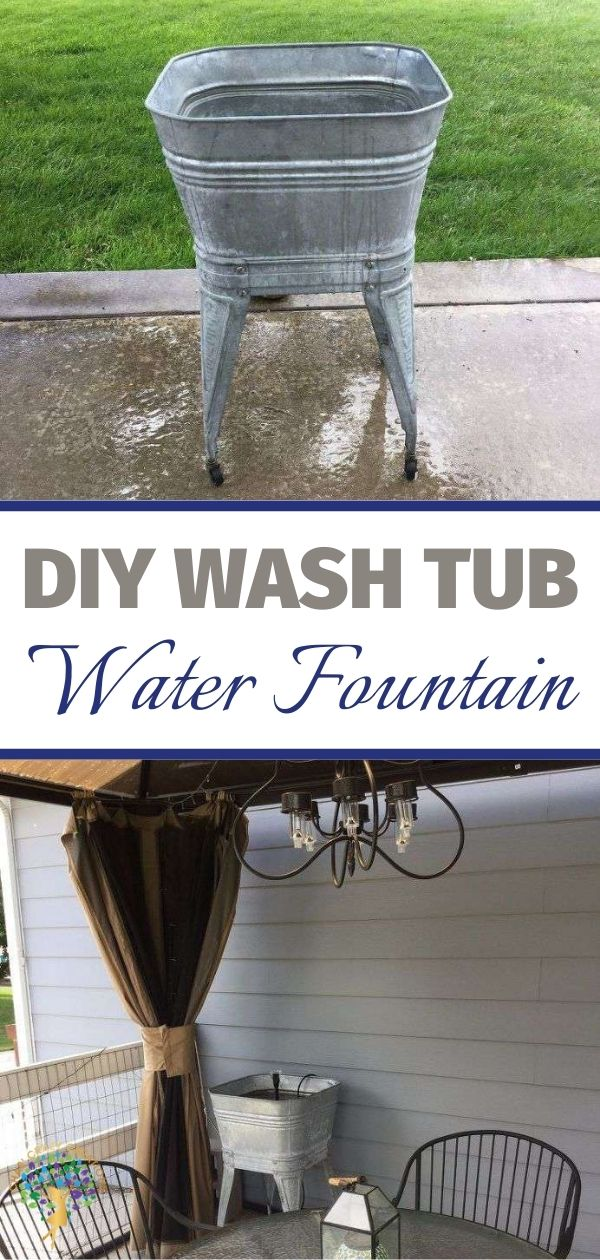 You can make a water fountain/feature in your yard in just about any container. Great for ambiance in your back yard and it's easy and inexpensive!