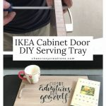 Do you want an easy diy serving tray? I found some cabinet doors on clearance at IKEA and turned them into a serving tray for my home.