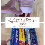 We all need organization in our kitchen. I'm sharing 12 easy walk-in pantry organization tips and hacks, and these tips and hacks can be used in many areas of your home.