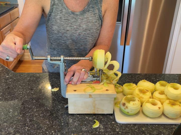 1. prep the apples