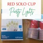 Make these adorable red solo cup lights for your next party. This light strand is inexpensive, easy to make, and will look great on any occasion! Just pick the color solo cup you like.