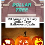 Do you love Dollar Tree? Me too! I'm sharing 20 amazing and easy Dollar Tree Halloween Crafts with you!
