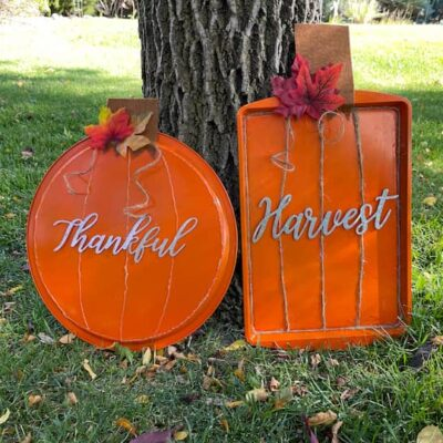 I love how both of these dollar tree pumpkins turned out!